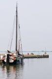Sailboat in dock Stock Image