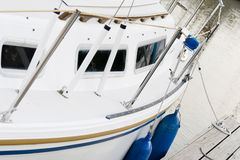 Sailboat at the dock Stock Photography