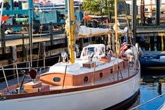 Sailboat at dock Stock Photos