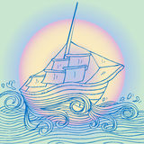 Sailboat. Doodle style sketch of a sailboat Royalty Free Stock Photography