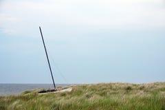 Sailboat on dune Royalty Free Stock Photo
