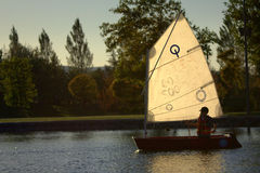 Sailboat - Finn class Royalty Free Stock Photos