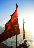 Sailboat flag in Hong Kong Stock Photo