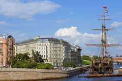 Sailboat Flying Dutchman, Saint Petersburg, Russia Royalty Free Stock Image