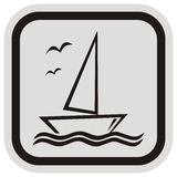 Sailboat, frame Royalty Free Stock Image
