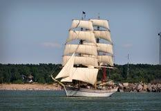Sailboat on full sails Royalty Free Stock Image