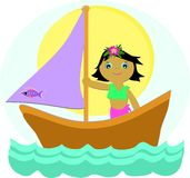 Sailboat Girl royalty free stock images