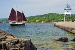 Sailboat, Grand Marais Stock Images