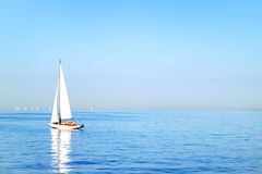 Sailboat. Gulf of Finland Royalty Free Stock Photography