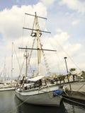 Sailboat in harbor Royalty Free Stock Photos