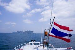 A sailboat heads to islands, Trang, Thailand Royalty Free Stock Photos
