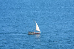 Sailboat in high sea Royalty Free Stock Image