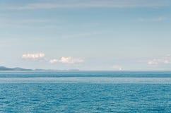Sailboat on the Horizon. Beautiful Adriatic coast near Zadar, Croatia Stock Images
