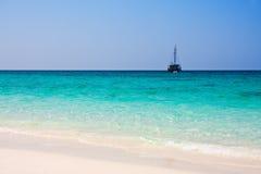 Sailboat on the horizon Royalty Free Stock Photography