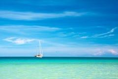 Sailboat on the horizon Royalty Free Stock Photo