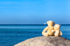 Sailboat at the Horizon Royalty Free Stock Photography