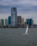 Sailboat on the Hudson River, NYC. Royalty Free Stock Photo