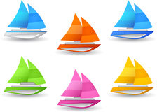 Sailboat icon Stock Photos
