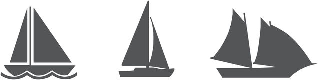 Sailboat Icon Pack - Vector Royalty Free Stock Photography