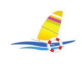 Sailboat icon vector illustration Stock Photography