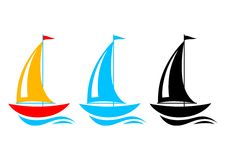 Sailboat icons Stock Image