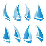 Sailboat icons Royalty Free Stock Photo