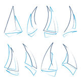 Sailboat icons stock illustration