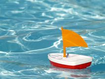Free Sailboat In Swimming Pool Royalty Free Stock Photos - 841268