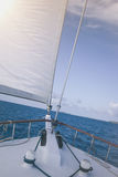 Sailboat on indian ocean Stock Images