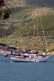 Sailboat at Ithaki island of Greece Royalty Free Stock Image