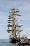 Sailboat Kruzenstern in Kerch Royalty Free Stock Photography