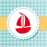 Sailboat label Royalty Free Stock Photos