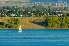 Sailboat On Lake Royalty Free Stock Images