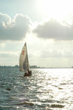 Sailboat on lake Royalty Free Stock Photos