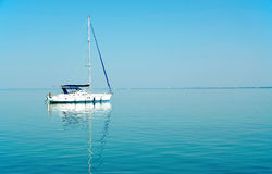 Sailboat on Lake Balaton, Hungary Stock Photo