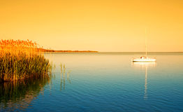 Sailboat on Lake Balaton, Hungary Royalty Free Stock Photo