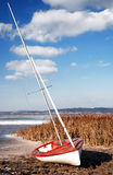 Sailboat at Lake Balaton in winter time Royalty Free Stock Images
