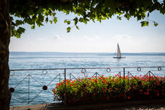 Sailboat on Lake Constance Stock Photography
