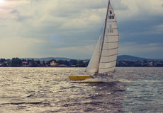 Sailboat on the lake Stock Image