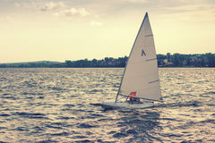 Sailboat on the lake Royalty Free Stock Photo