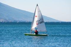 Sailboat on Lake Garda Royalty Free Stock Image