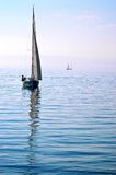 Sailboat on Lake Geneva Royalty Free Stock Images