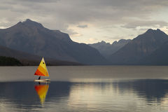 Sailboat on Lake McDonald Royalty Free Stock Images