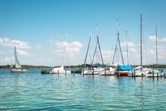 Sailboat on lake Royalty Free Stock Image