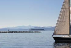 Sailboat Landscape Stock Images