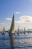 Sailboat in the Lead Royalty Free Stock Photos