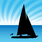 Sailboat Man Royalty Free Stock Image
