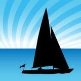 Sailboat Man stock illustration