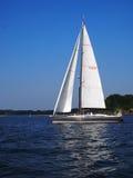 Sailboat on Manhasset Bay LI Royalty Free Stock Images