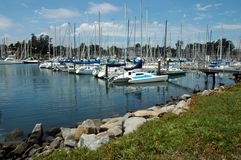 Sailboat Marina. A marina near Santa Cruz, Ca stock image